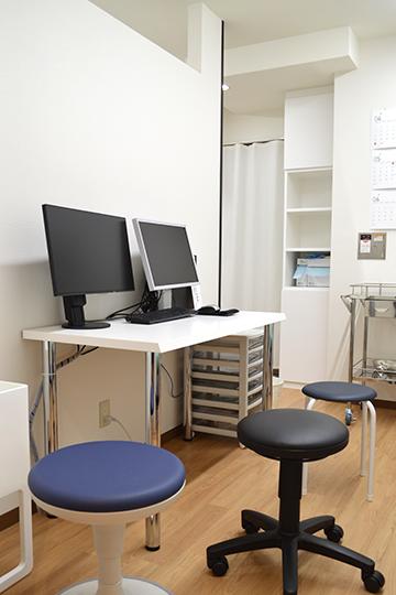 西宮・甲東園のささき整形外科・設備紹介ページの写真コーナー。第2診察室の様子です。