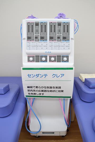 西宮・甲東園のささき整形外科・設備紹介ページの写真コーナー。低周波・干渉波組合せ治療器のご紹介です。