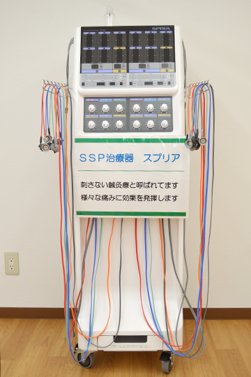 西宮・甲東園のささき整形外科・設備紹介ページの写真コーナー。低周波治療器のご紹介です。